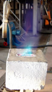 Gas burner's stone made from high temperature fibrous materials