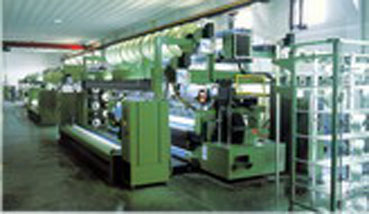 The complex of knitting-punching machines intended for the road mesh  manufacturing