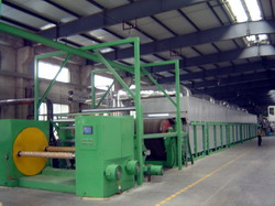 Process line for producing of chopped strand mats